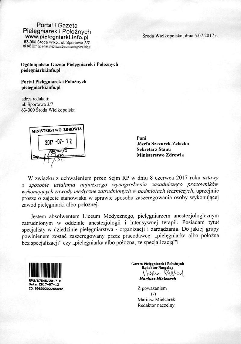 Zobacz Odpowiedź Na Drugie Pismo Redakcji Portalu Do Ministerstwa
