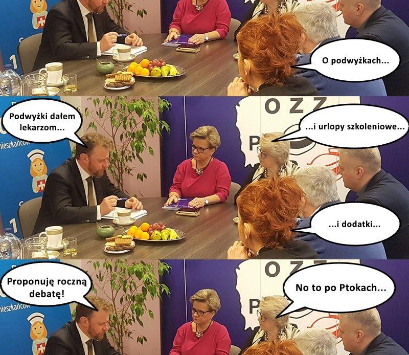 """Pielęgniarski mem (2) – à propos rozpoczynającej się w dniu dzisiejszym (18 kwietnia) """"debacie o zdrowiu"""" ministra Szumowskiego w kontekście obecnej sytuacji zawodowej pielęgniarek i położnych…"""