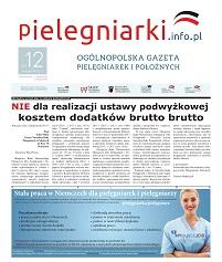 Grudniowe (2017) wydanie miesięcznika branżowego Ogólnopolska Gazeta Pielęgniarek i Położnych – pielegniarki.info.pl