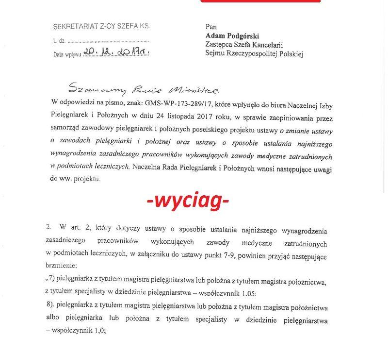 Panie w czepkach z izby pip przesłały w dniu 20 grudnia do ministra Radziwiłła kolejną swoją wersję sposobu podziału pielęgniarek i położnych względem wysokości wynagrodzenia zasadniczego w kontekście posiadanego wykształcenia.