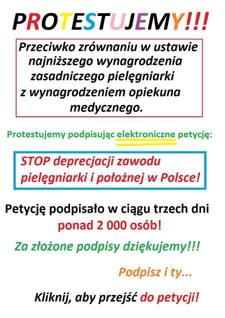Zobacz dlaczego pielęgniarki i położne podpisują petycję w sprawie zrównania przez Radziwiłła wysokości najniższego wynagrodzenia zasadniczego pielęgniarki i opiekuna medycznego.