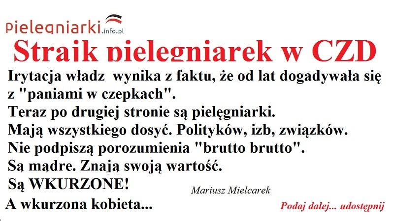 """List pielęgniarki do ministra zdrowia: """"A teraz proszę Pana o uruchomienie swojej wyobraźni i niech Pan zobaczy to co Ja widzę: wszystkie pielęgniarki w całej Polsce pewnego dnia  rezygnują z tych dodatkowych etatów. Myślicie, cała elito rządząca, że to niemożliwe albo, przesadzam – nie, nie przesadzam. Tak się stanie i dopiero się zdziwicie!"""