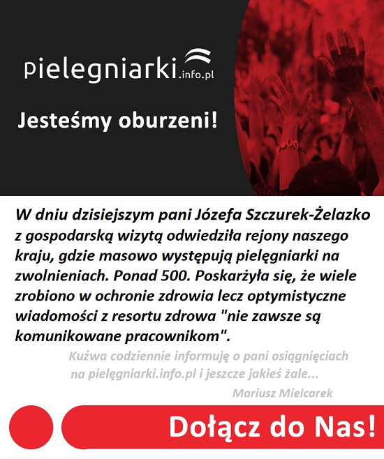 """Zobacz wideo z konferencji prasowej pani Józefy Szczurek-Żelazko na podkarpaciu. """"Przybyłam na życzenie ministra zdrowia"""" w sprawie ponad 500 pielęgniarek na zwolnieniach."""