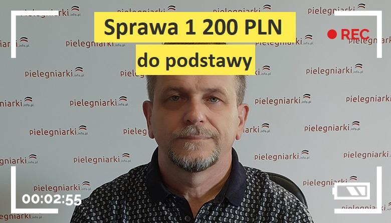"""Pielęgniarski live #14 – """"Sprawa 1 200 PLN do podstawy"""""""