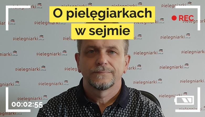 """Pielęgniarski live #12 – """"O pielęgniarkach w Sejmie""""."""