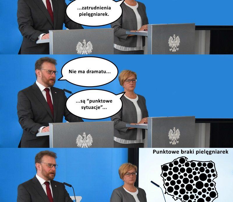 """Pielęgniarski mem (1) – à propos """"sytuacji punktowych"""" wiceministra zdrowia pani Józefy Szczurek-Żelazko…"""