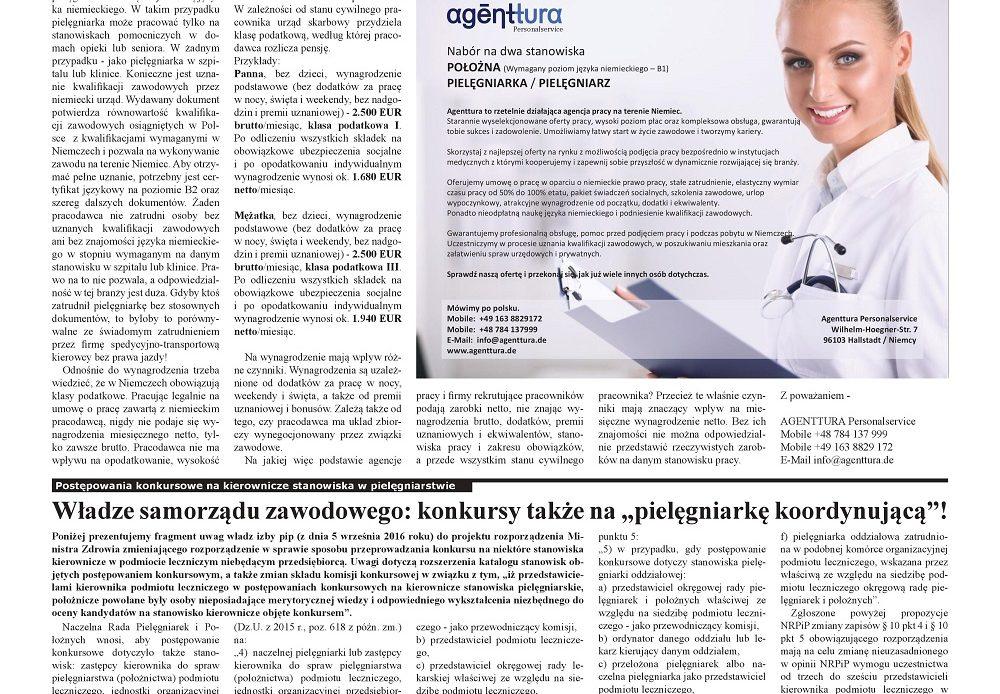 Miesięcznik Ogólnopolska Gazeta Pielęgniarek i Położnych – Warto wiedzieć, polska pielęgniarka w Niemczech – praktyczne informacje
