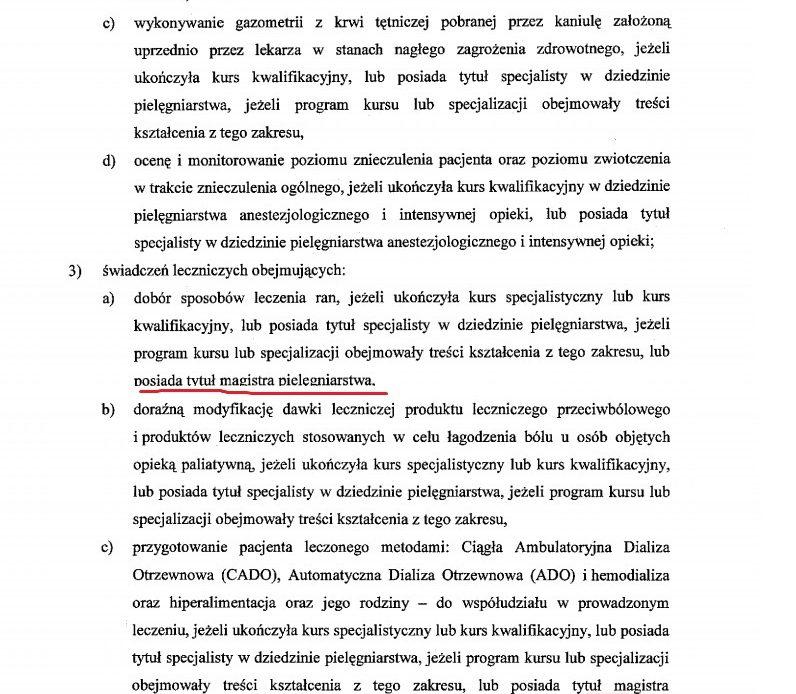 Zdecydowano co może bez zlecenia lekarskiego magister pielęgniarstwa. Tak postanowił minister Radziwiłł i wiceminister zdrowia pielęgniarka.