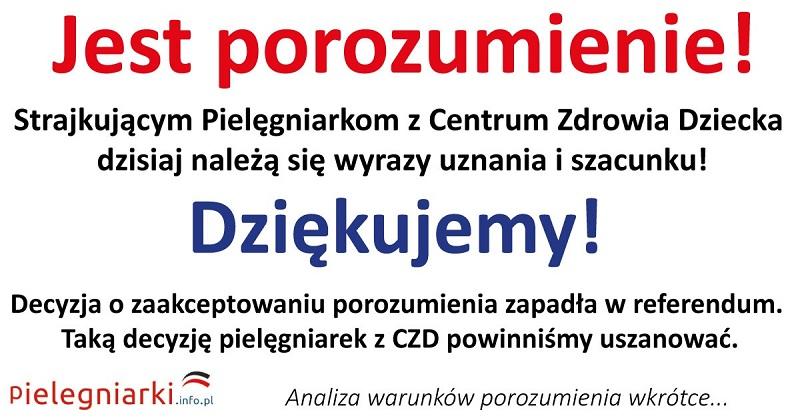 Strajk pielęgniarek w CZD. Zaakceptowano porozumienie….