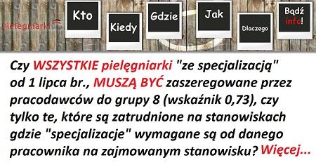 Zobacz jakie specjalizacje dla pielęgniarek zamierza dofinansować w tym roku ministerstwo zdrowia na terenie województwa wielkopolskiego. Ma być 175 miejsc szkoleniowych. Zobacz wykaz 7 specjalizacji…