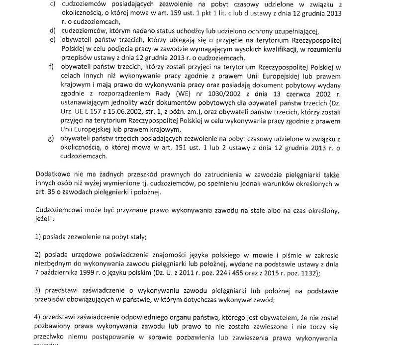 Pielęgniarki do decydentów: pracodawcy winni stworzyć godne warunki pracy dla pielęgniarek, a nie sprowadzać cudzoziemców z Białorusi i Ukrainy. Należy także zachęcić nasze polskie pielęgniarki do powrotu do kraju, które masowo pracują w innych krajach UE.
