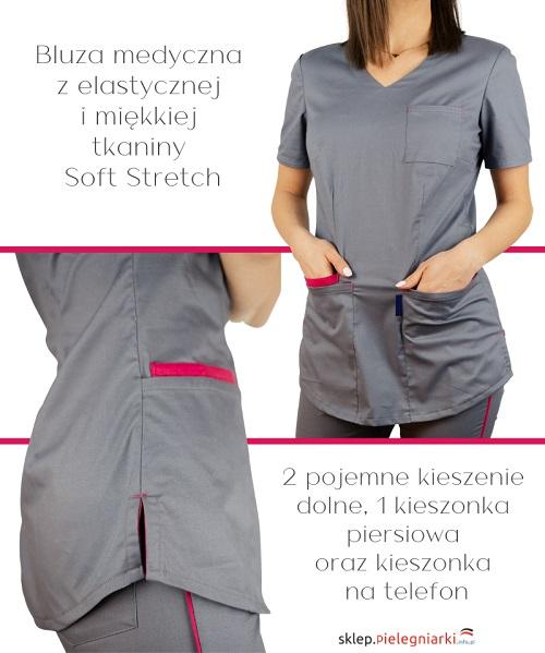 Zakażona pielęgniarka przed komisją ubiera kombinezon.