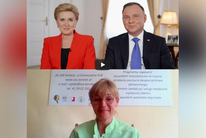 Wywiad Pary Prezydenckiej z położną.